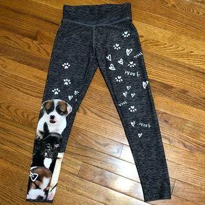 Justice Yoga Pants Leggings Puppy Dogs Sz 12
